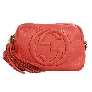 Gucci Soho Disco Coral Leather Crossbody Bag